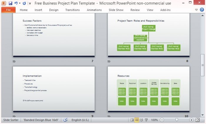 ms project plan templates free - free business project plan template for microsoft powerpoint