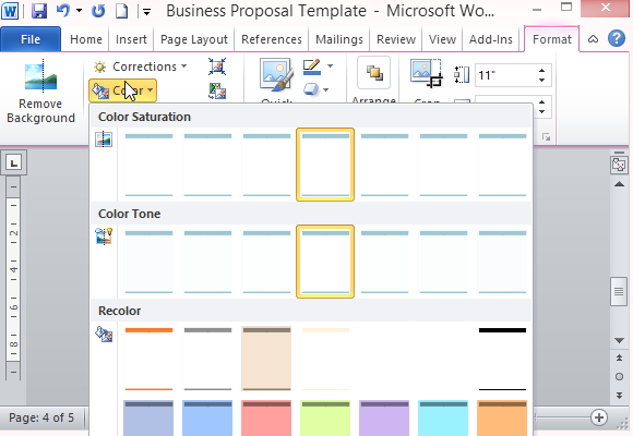 Modern UI Business Proposal Template for Word – Microsoft Word Proposal Template