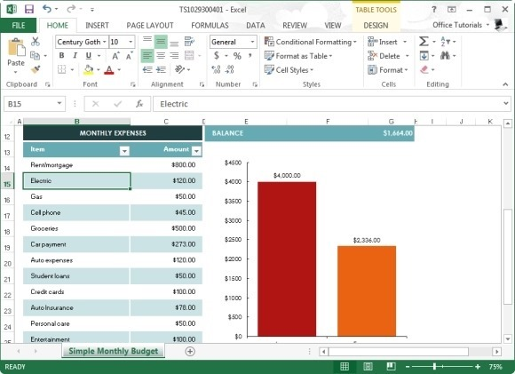 Free monthly budget template for excel 2013 for Microsoft excel budget template 2013