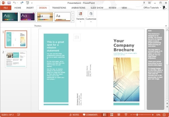 Free Brochure Templates For Microsoft PowerPoint - Free brochures templates