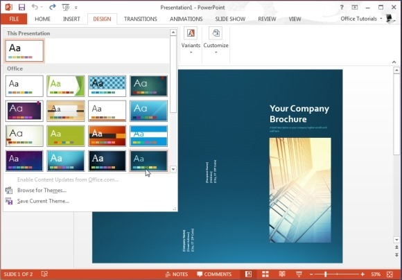 Free brochure templates for microsoft powerpoint for Powerpoint handout template
