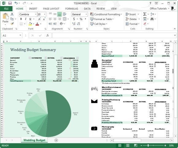 Wedding Budget Calculator Template For Excel