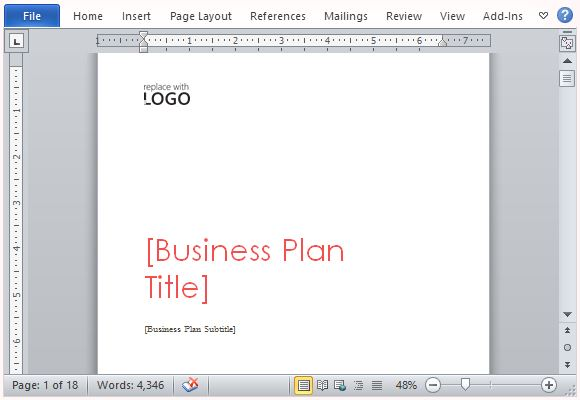 Business plan template for microsoft word create a striking and impressive business plan flashek Image collections