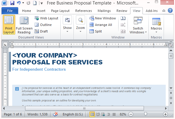 free services proposal template