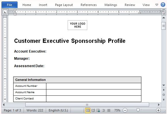 Sample Sponsorship Proposal Template for Microsoft Word
