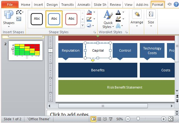 Risk Analysis Template for PowerPoint – Risk Analysis Format