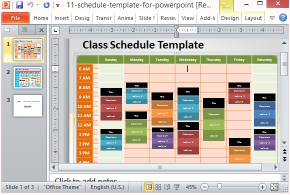 Work Schedule Template Free Excel