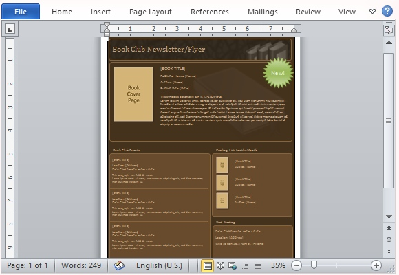 club newsletter templates