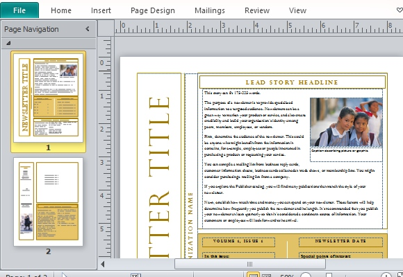 Free Newsletter Templates – Newsletter Templates Word Free