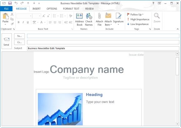 how to make a template in outlook - free newsletter templates