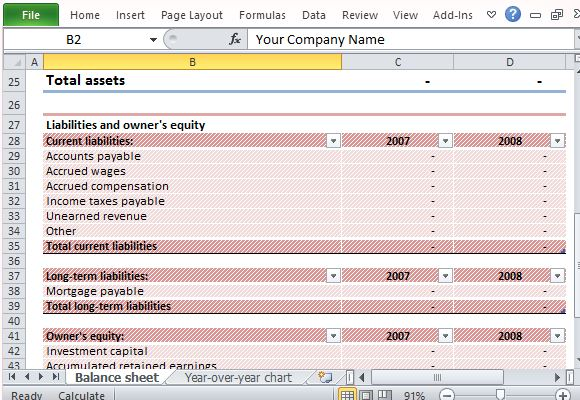 Printables Assets And Liabilities Worksheet Excel download editable sample balance sheet for excel automatically calculate assets and liabilities
