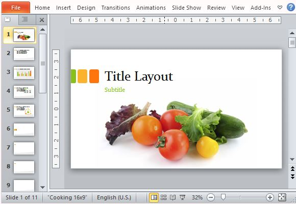 food presentation template for powerpoint, Modern powerpoint