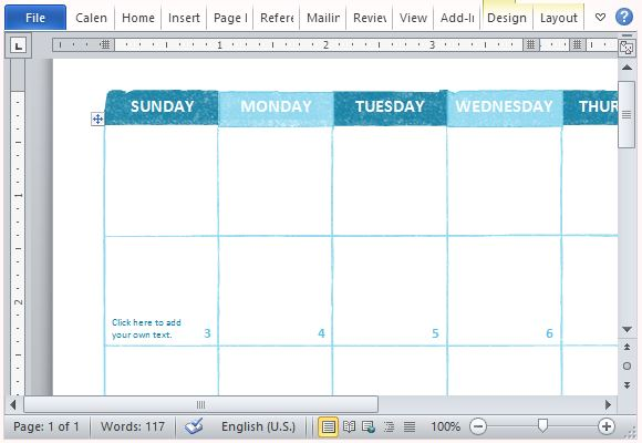 Free academic calendar template for microsoft word for Calendar printing assistant templates