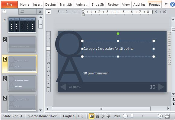 quiz game show template for microsoft powerpoint, Modern powerpoint