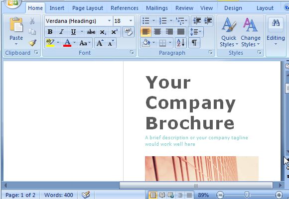 Free brochure maker template for ms word for Ms word brochure template