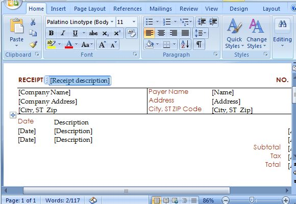 create a receipt in word - How To Make A Receipt
