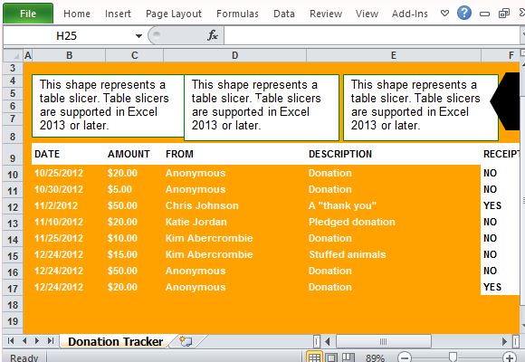 Free Donation Tracking Templates For Excel