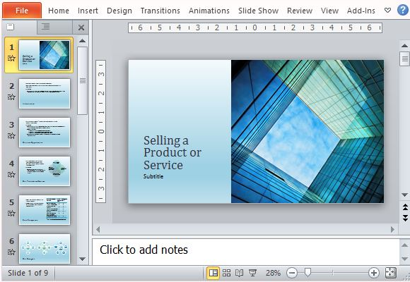 Business Sales Presentation Template For Products And Services