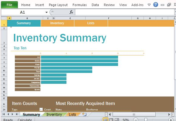 personal inventory log template for excel