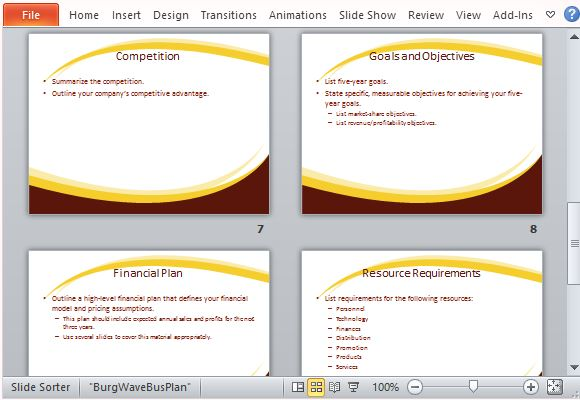 professional business plan template for powerpoint, Modern powerpoint