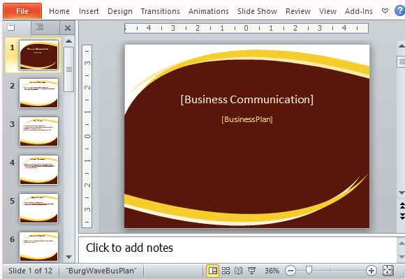 Professional Business Plan Template For Powerpoint