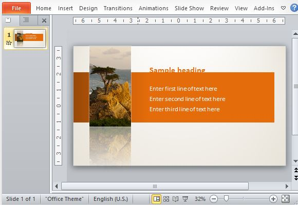 Orange-Themed Template with Subtle Animations