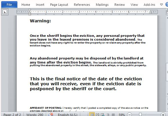 eviction warning letter - 28 images - top 5 day eviction notice ...
