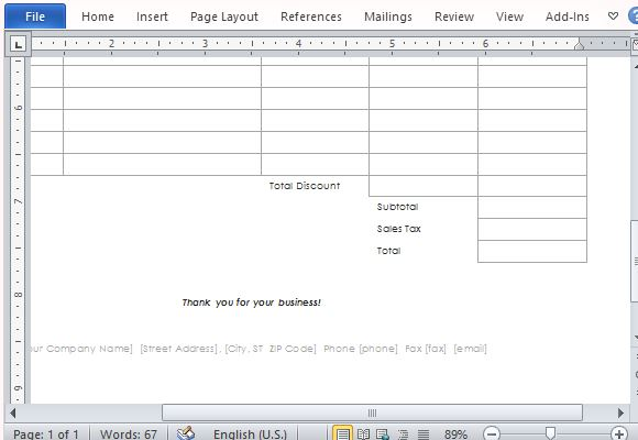 office receipt template .