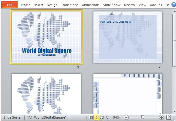 Digital world map template for powerpoint for Professional looking powerpoint templates