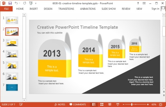 Project Management PowerPoint Templates - Roadmap timeline template ppt