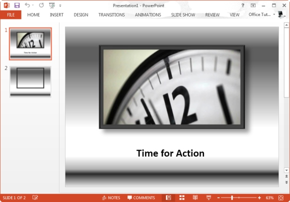 time for action powerpoint template