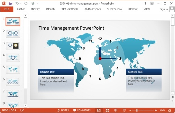 Best project management powerpoint templates time management powerpoint template toneelgroepblik Gallery