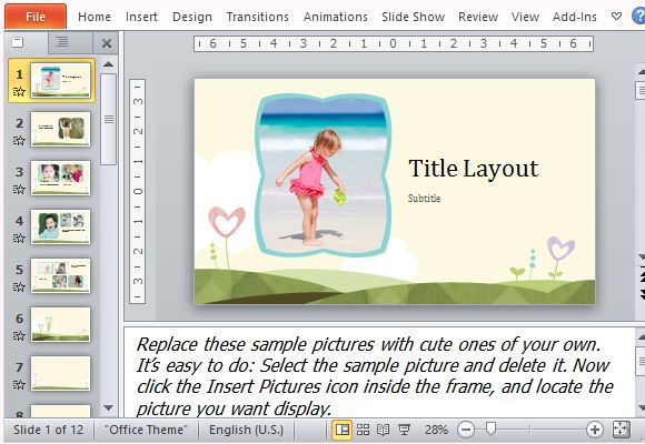 Adorable Photo Album Templates for Vacation, Kids or Family Photos