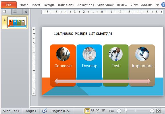 Continuous picture list template for powerpoint change the theme of the slideshow to match your existing presentation toneelgroepblik Images
