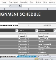 Free Ignment Schedule Tracker For Excel
