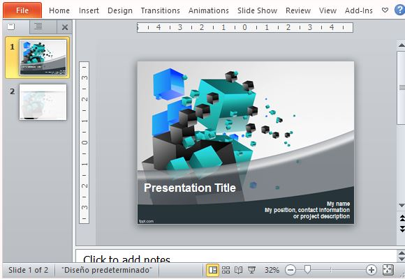 3d cube templates for powerpoint futuristic and geometric 3d cubes powerpoint template toneelgroepblik Images
