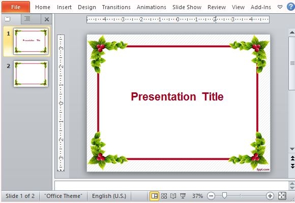 Spread Some Holiday Cheer with This Christmas Inspired Template