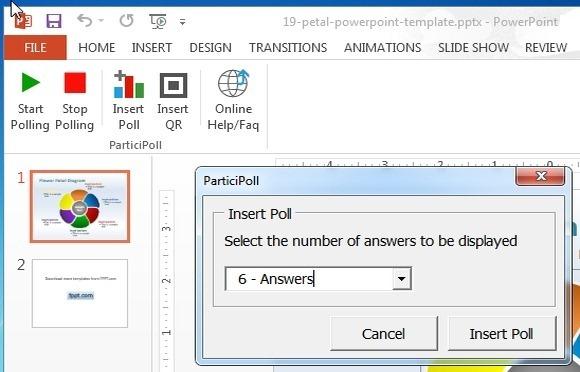 insert poll in powerpoint