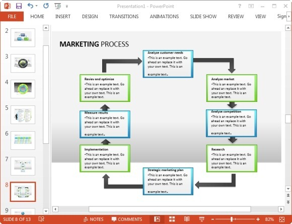 free marketing plan template for powerpoint, Powerpoint