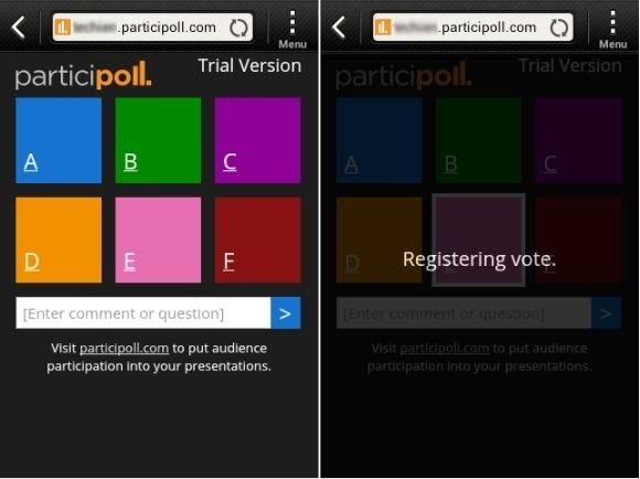 participoll live presentation poll