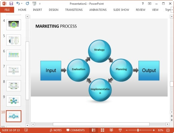 Free marketing plan template for powerpoint for Microsoft office smartart templates
