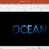 Add Image to Text in PowerPoint