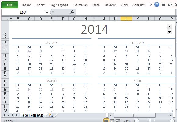Calendar Design Using Photo : How to easily create a calendar for any year in excel