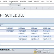Beautifully Laid Out Template for Scheduling Employees