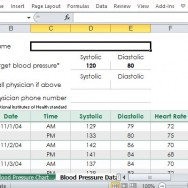Blood Pressure Tracker Template for a Healthier Lifestyle
