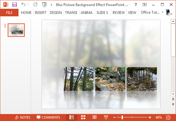 Blur picture effect PowerPoint template