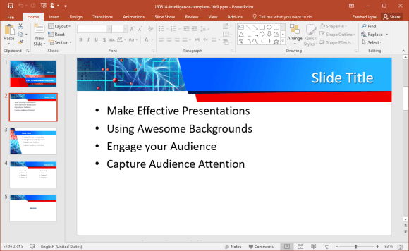 Brain Intelligence PowerPoint Template