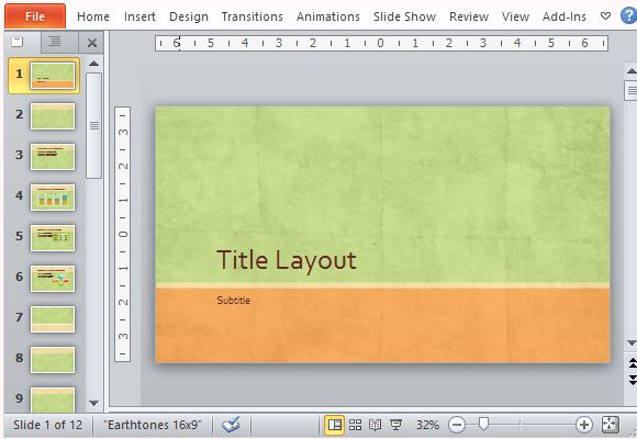 Widescreen earth tone presentation template for powerpoint toneelgroepblik Choice Image