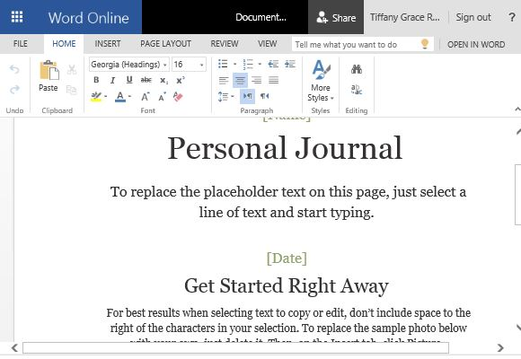 Word Journal Template. how to make a cloud based personal journal ...