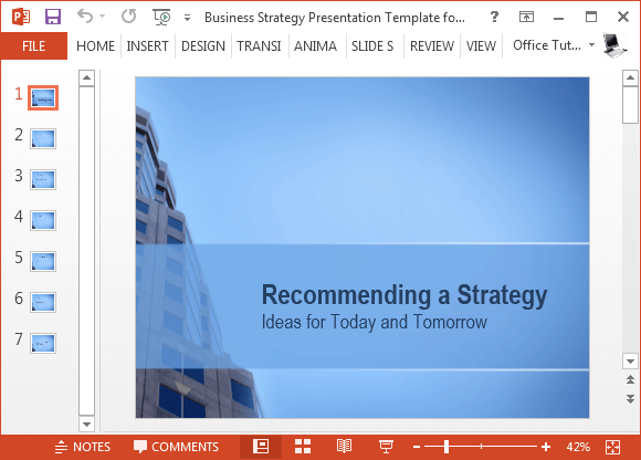 Free business strategy template for powerpoint friedricerecipe